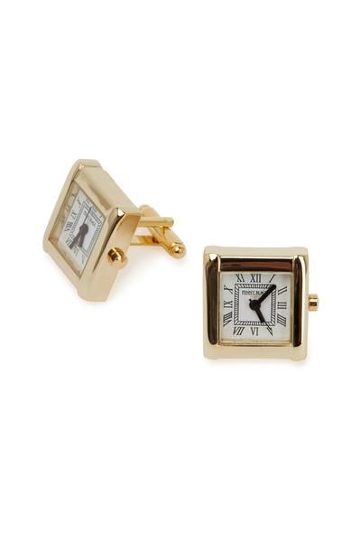 Cufflinks Inc - Yellow Gold Square Watch Cuff Links
