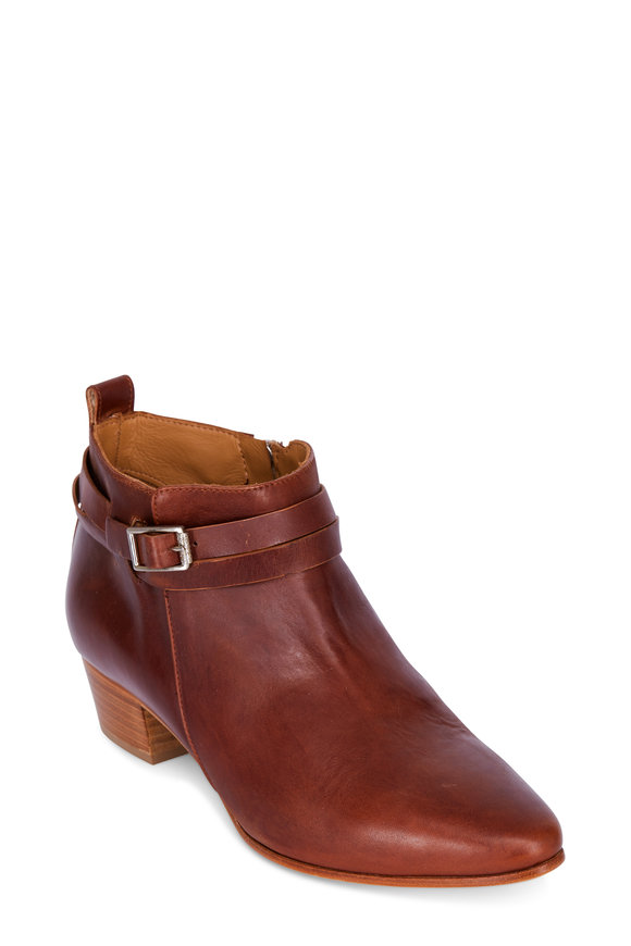 Alberto Fermani Sahara Leather Wrapped Ankle Strap Bootie, 45mm