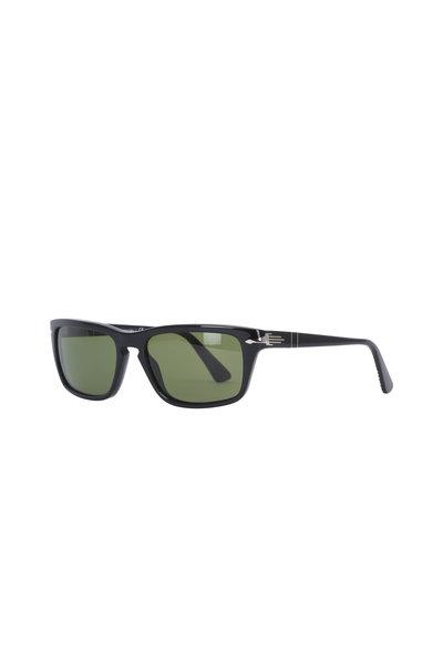 Persol - Suprema Black Polarized Square Sunglasses