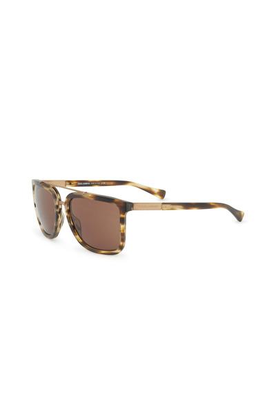 Dolce & Gabbana - Matte Flame Havana Square Sunglasses