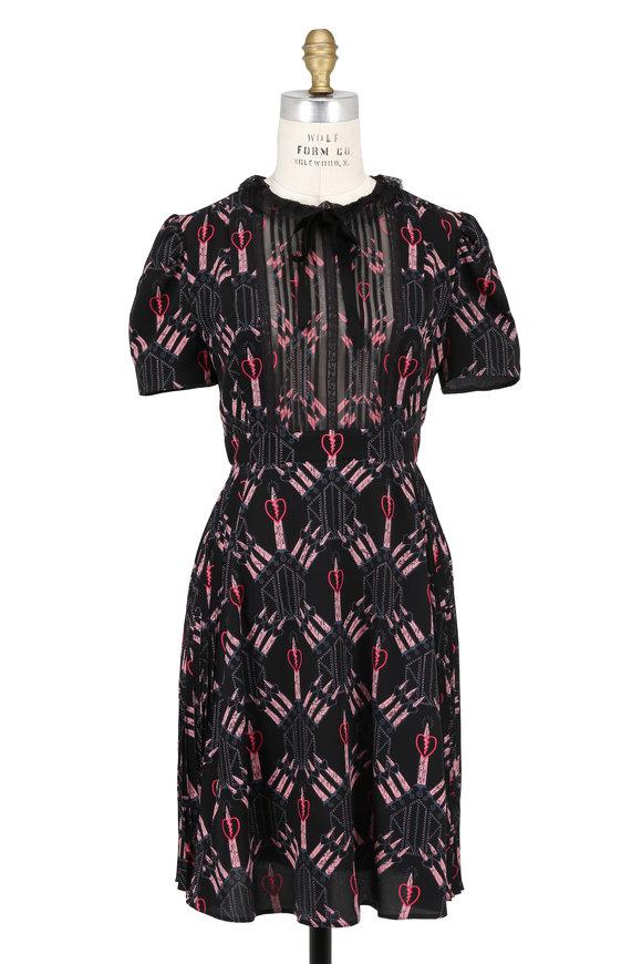 Valentino Love Blade Bambolina Black Silk Crêpe Dress