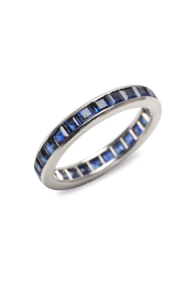 Platinum Sapphire Guard Ring