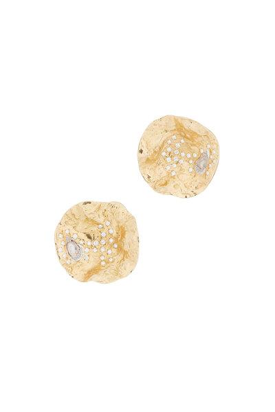Coomi - 20K Gold Diamond Serenity Wild Rose Earrings