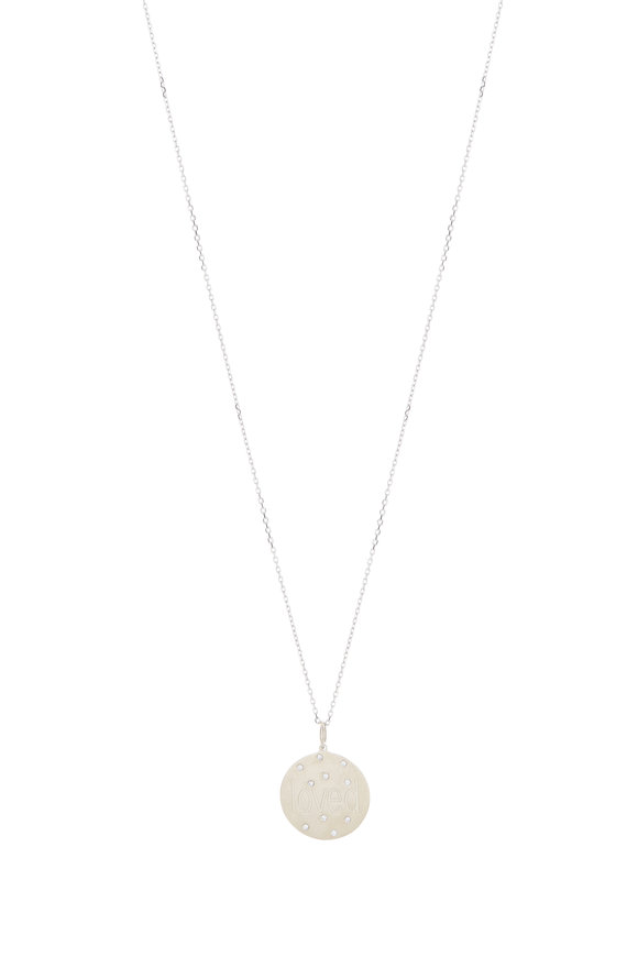 Genevieve Lau White Gold Scattered Diamond Pendant Necklace