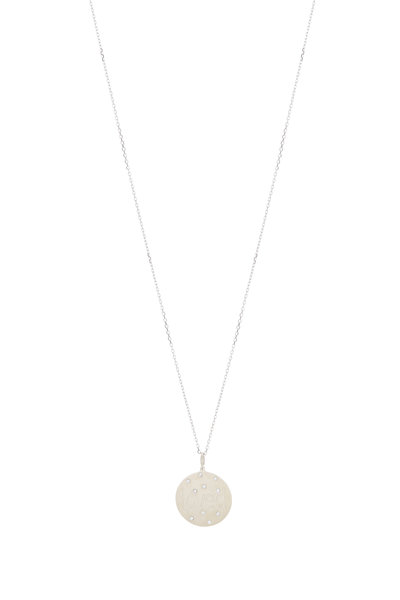 Genevieve Lau - White Gold Scattered Diamond Pendant Necklace