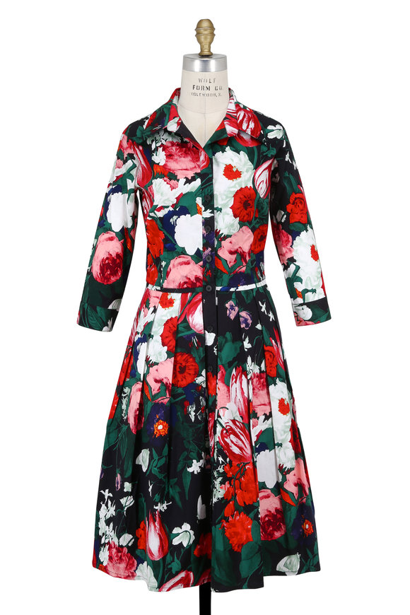 Samantha Sung Audrey Indigo & Rose Bollanger Tulip Shirtdress