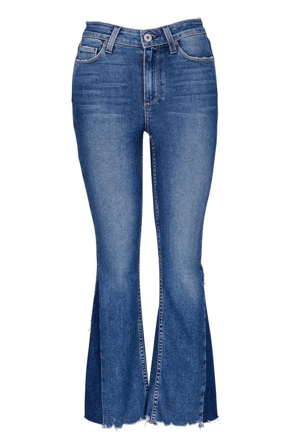 Paige Denim Pieced Colette Crop Flare Jean