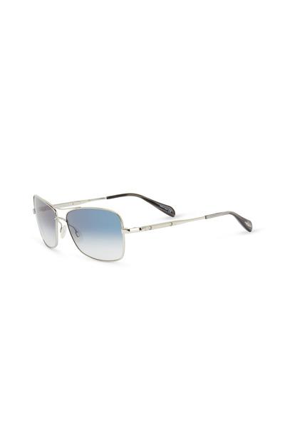 Oliver Peoples - Sanford Chrome Sapphire Photochromic Sunglasses