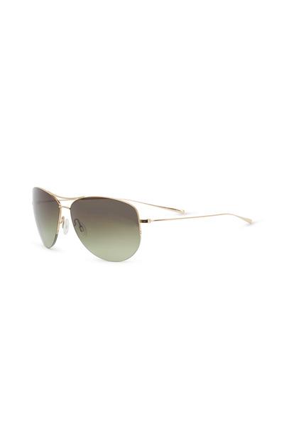 Oliver Peoples - Strummer Gold Aviator Sunglasses