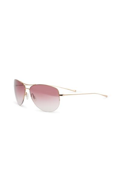 Oliver Peoples - Strummer Rose Gold Aviator Sunglasses
