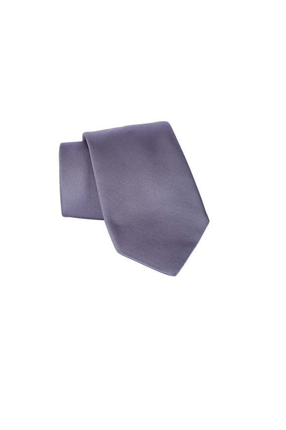 Dion Dark Grey Silk Necktie