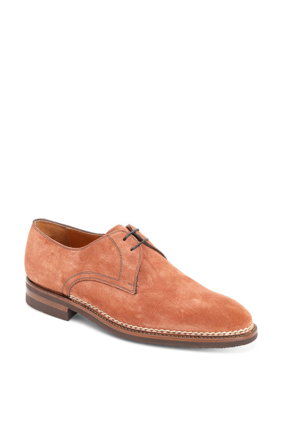 Bontoni Terracotta Suede Derby Shoe