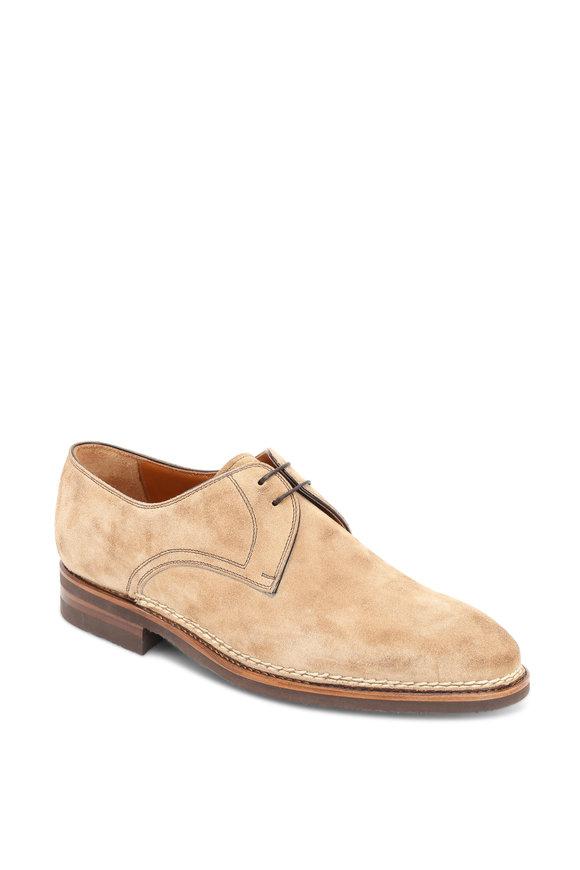 Bontoni Sand Suede Derby Shoe