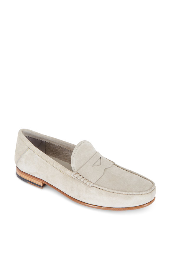 Tod's Sand Suede Penny Loafer