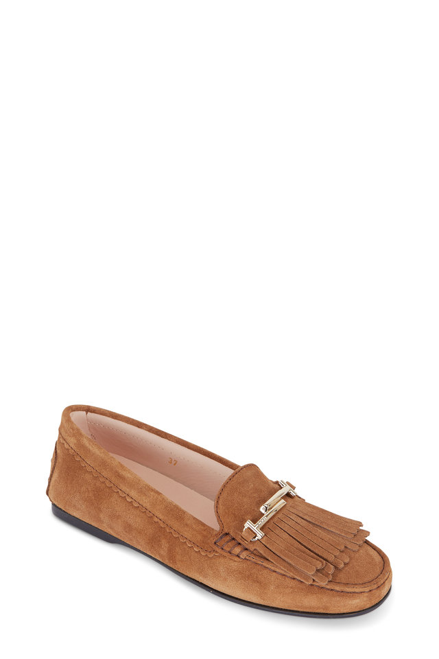 Tod's Flat shoes suede Tassel brown Free Shipping Many Kinds Of How Much Finishline Cheap Online With Mastercard Sale Online jyLtpJosuy