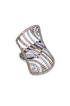 Bochic - White Gold Diamond Swirl Ring