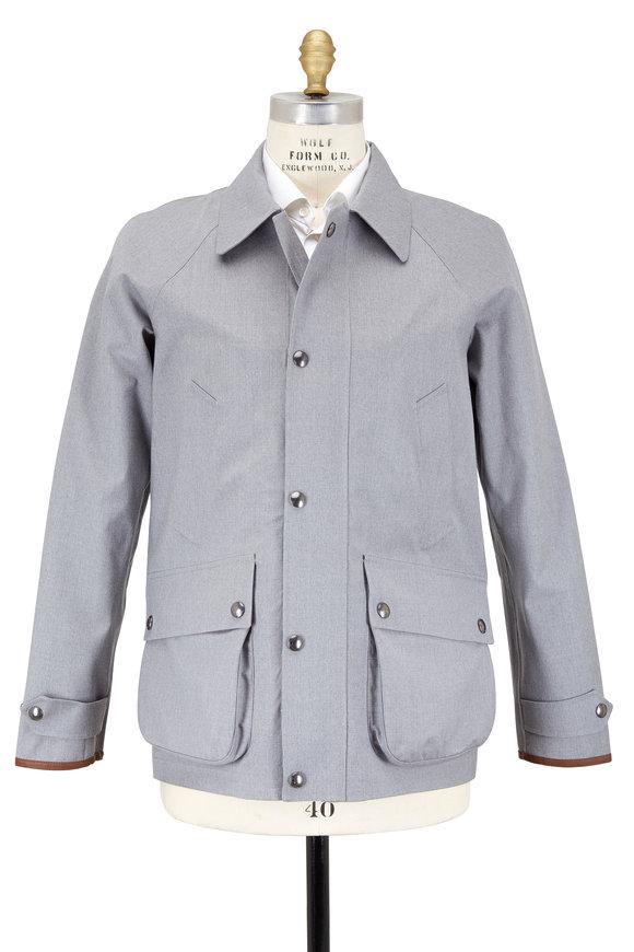 Polo Ralph Lauren Light Gray Water Resistant Wool Jacket
