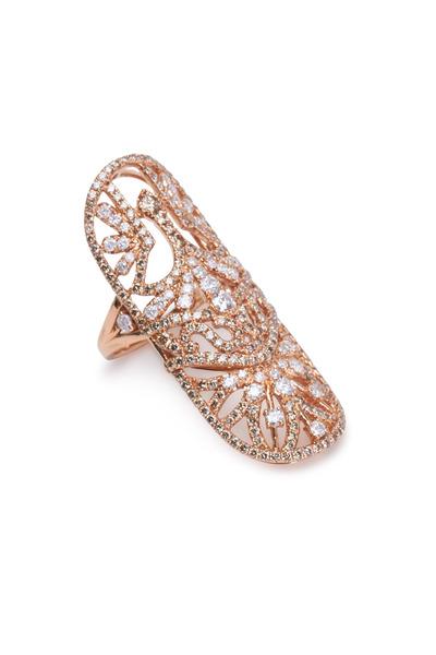 Bochic - Nouveau Warrior Rose Gold Diamond Ring