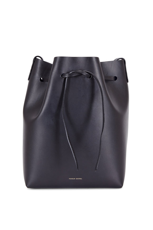 Mansur Gavriel Black Leather Medium Bucket Bag
