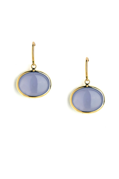 Syna - Blue Chalcedony Earrings On A French Wire