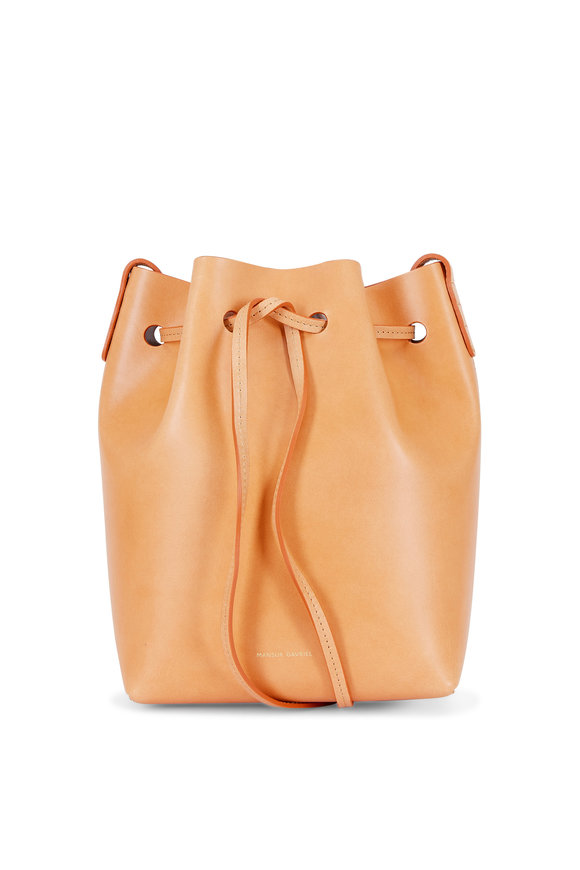 Mansur Gavriel Tan Leather Mini Bucket Bag
