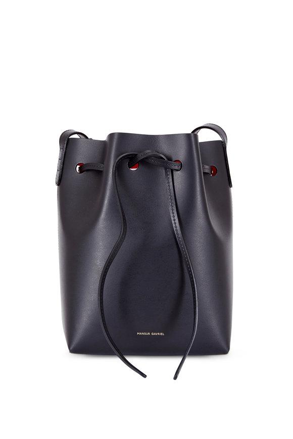 Mansur Gavriel Black Flamma Leather Mini Bucket Bag