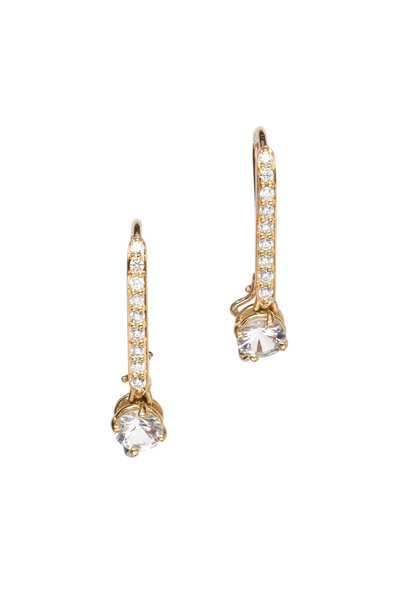 Paolo Costagli - Yellow Gold White Sapphire Diamond Earring Topper