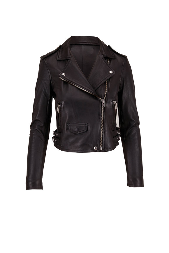 IRO Ashville Black Leather Moto Jacket