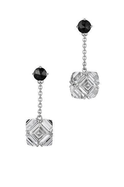 Paolo Costagli - White Topaz & Black Diamond White Gold Earrings