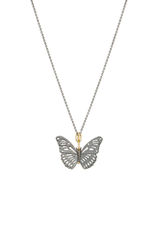 Butterfly Sterling Silver Monarch Necklace