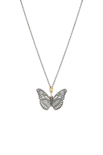 James Banks - Butterfly Sterling Silver Monarch Necklace