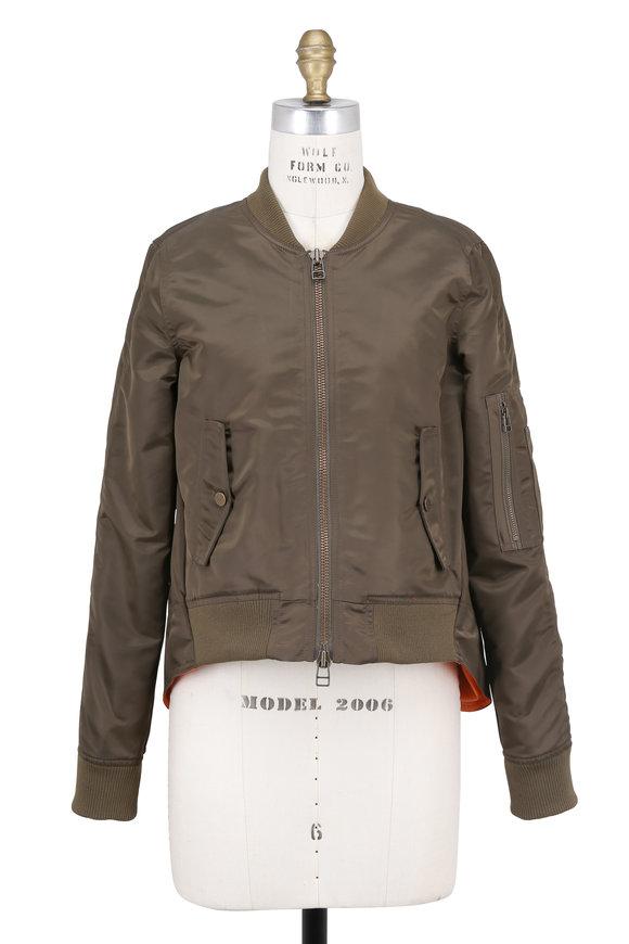 Veronica Beard Hampton Flight Green Nylon Jacket
