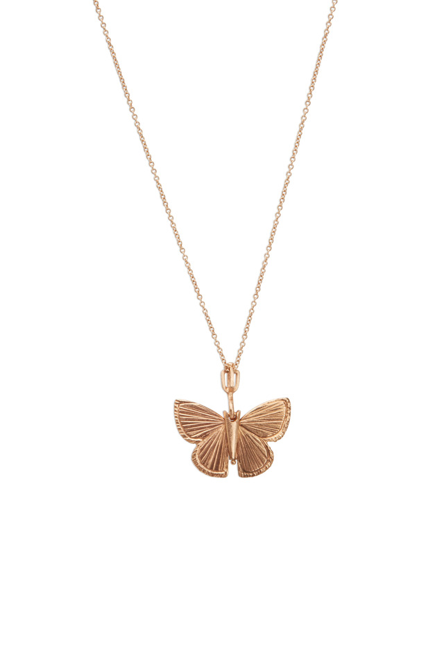 Butterfly Rose Gold Palos Verde Necklace