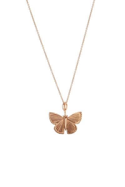 James Banks - Butterfly Rose Gold Palos Verde Necklace