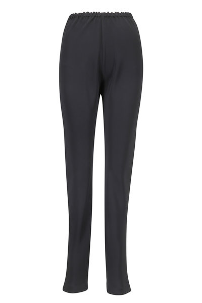 Peter Cohen - Black Matte Silk Narrow Pant