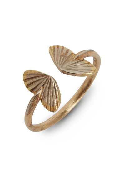 James Banks - Butterfly Yellow Gold Wing Ring