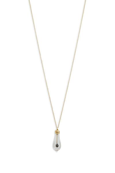 James Banks - Gold Black Diamond Lightkeeper Pendant Necklace
