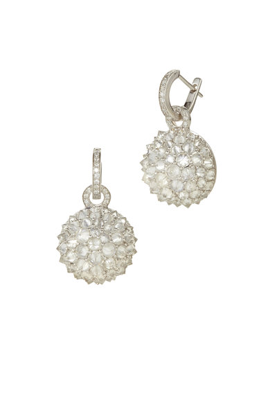 Nam Cho - 18K White Gold Ice Diamond Ball Drop Earrings