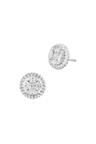 Nam Cho - 18K White Gold Diamond Studs