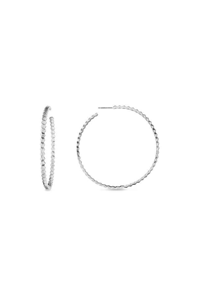Brillante White Gold Hoop Earrings