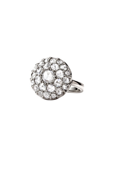 Nam Cho - 18K White Gold Diamond Cluster Ring