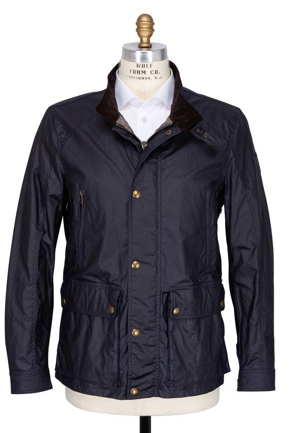 Belstaff Tourmaster Navy Blue Waxed Cotton Jacket