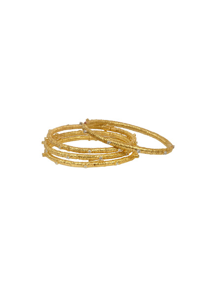 Coomi - Yellow Gold Diamond Eternity Bracelet