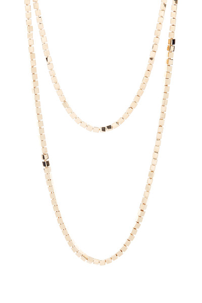 Eddie Borgo - Yellow Gold Plated Cube Necklace
