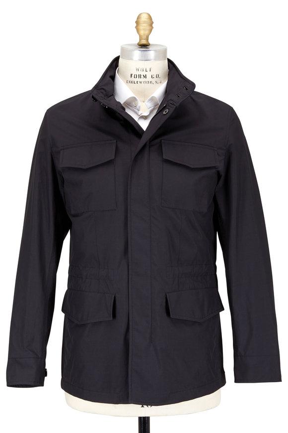 Ermenegildo Zegna Black Four Pocket Field Jacket