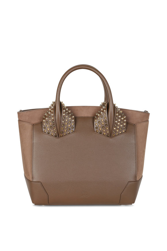 Christian Louboutin Eloise Taupe Leather Stud Detail Satchel