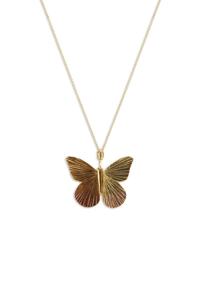 James Banks - Butterfly Yellow & Pink Gold Diamond Necklace