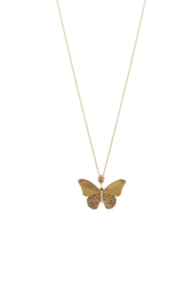 James Banks - Butterfly Yellow Gold Red Ruby Necklace