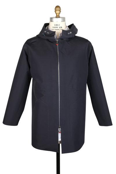 Kiton - Navy Blue Hooded Jacket