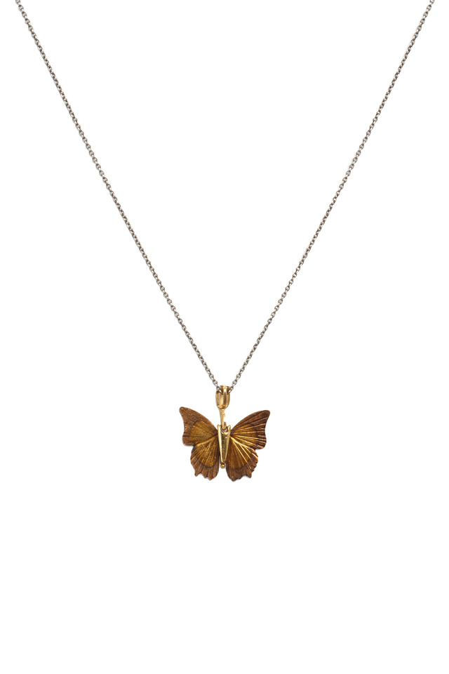 Butterfly Yellow Gold Necklace